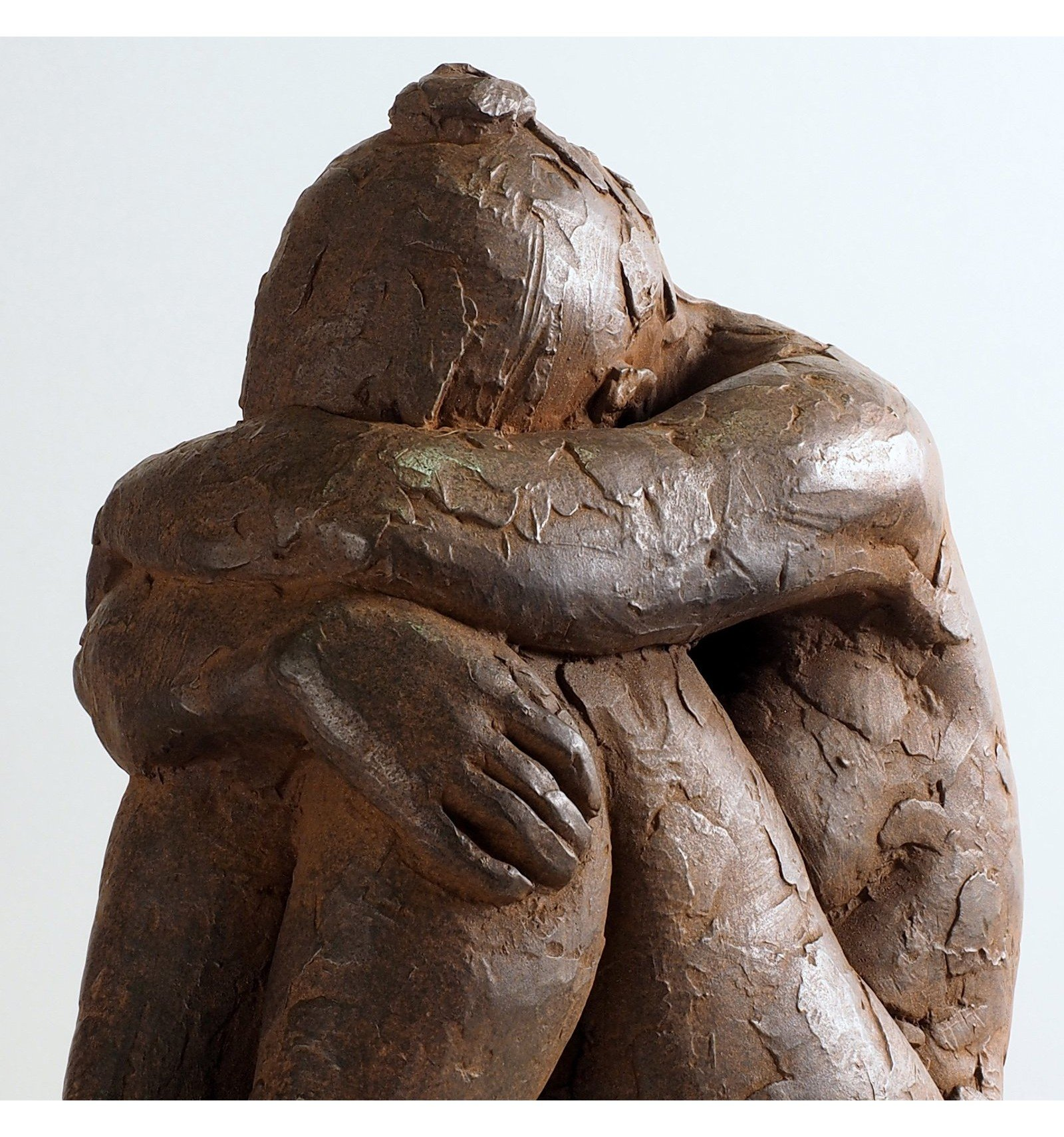 Sculpture Nu Group En Oxyde De Bronze  Sculpture -6942